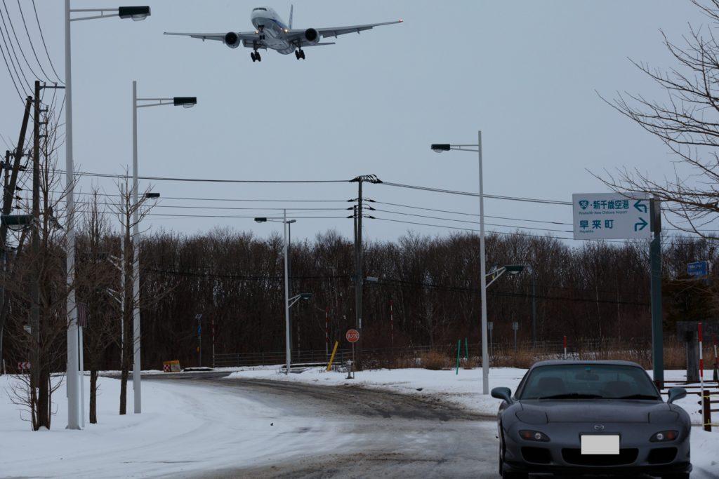 飛行機とRX-7