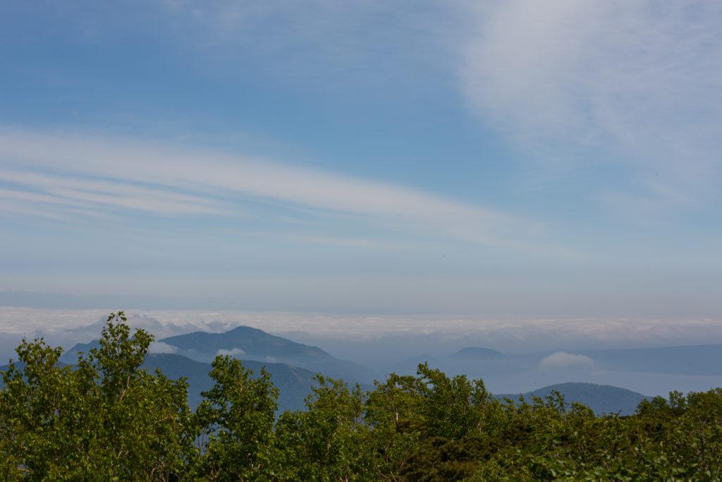 空沼岳の支笏湖方面風景