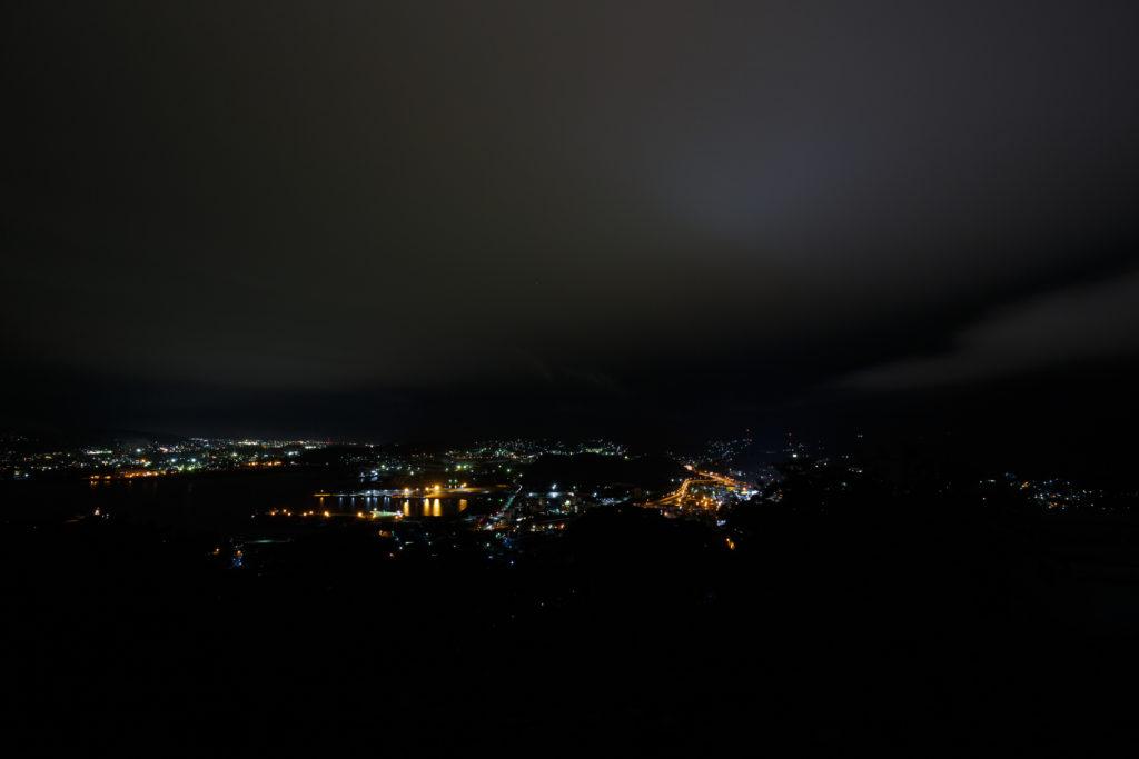 測量山からの夜景