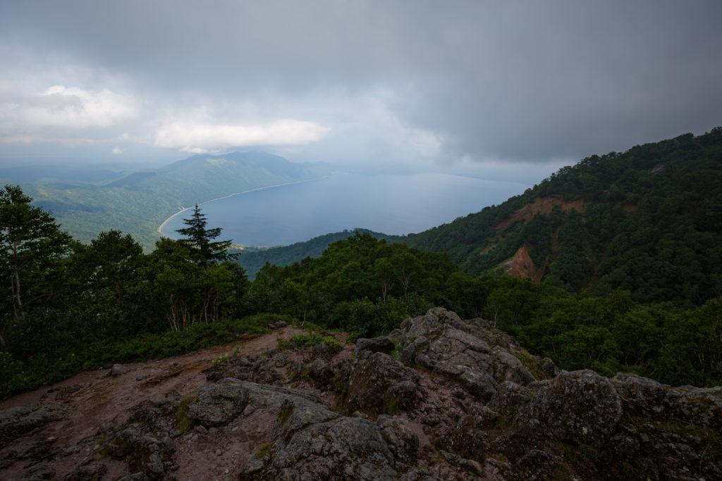恵庭岳見晴台の風景