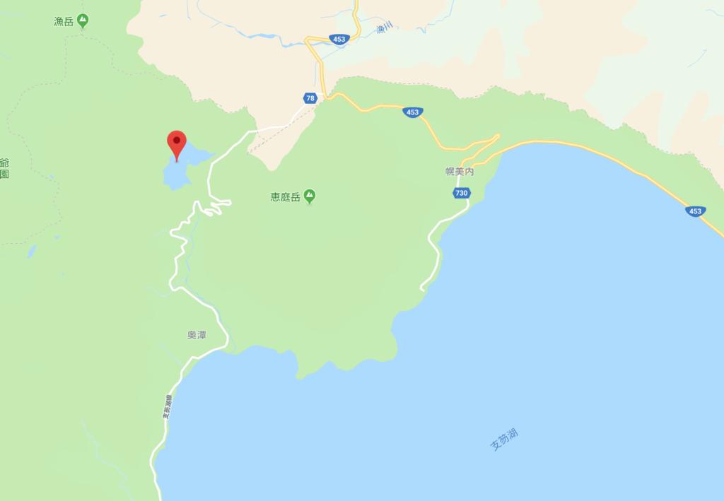 オコタンペ湖MAP