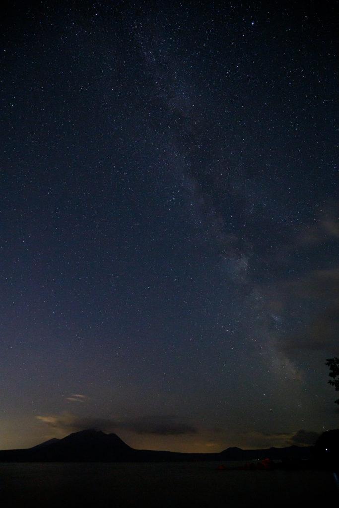 支笏湖の星空