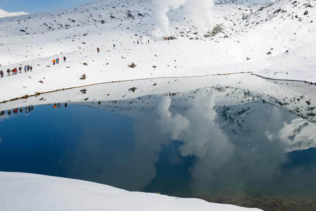 ウユニ塩湖風姿見の池