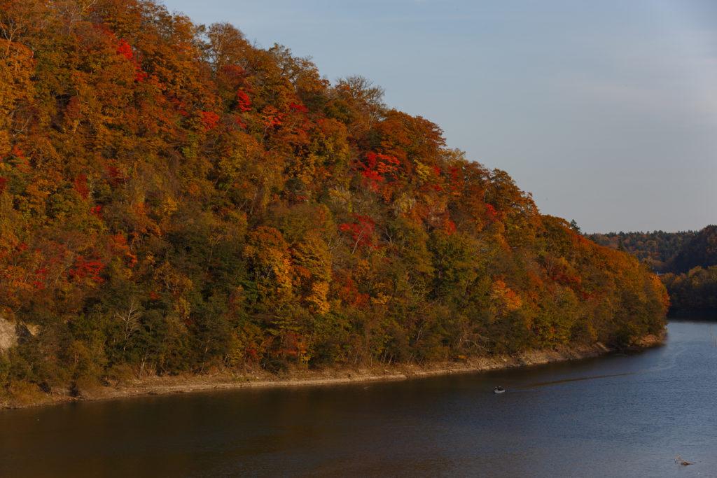 恵庭湖の紅葉