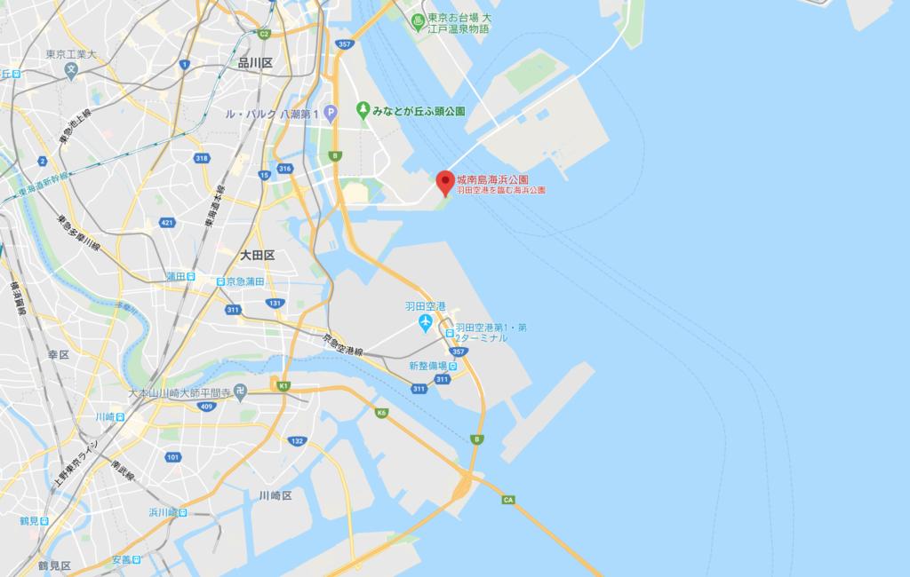 城南島海浜公園MAP