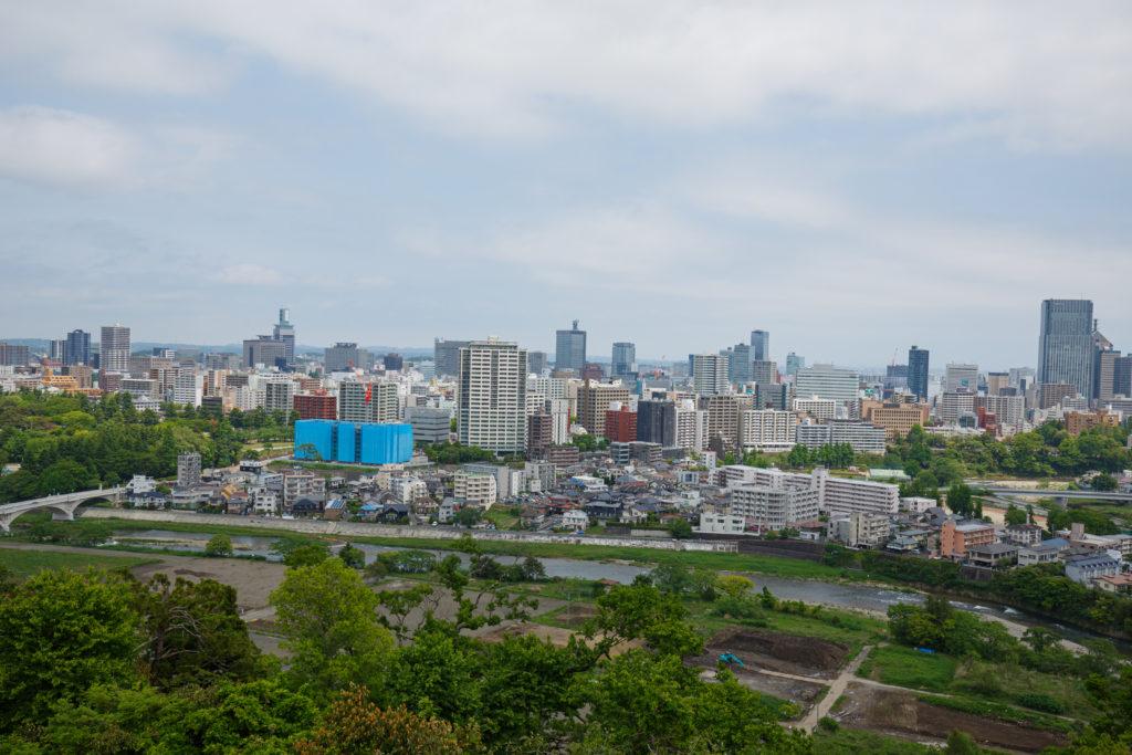 仙台城からの風景