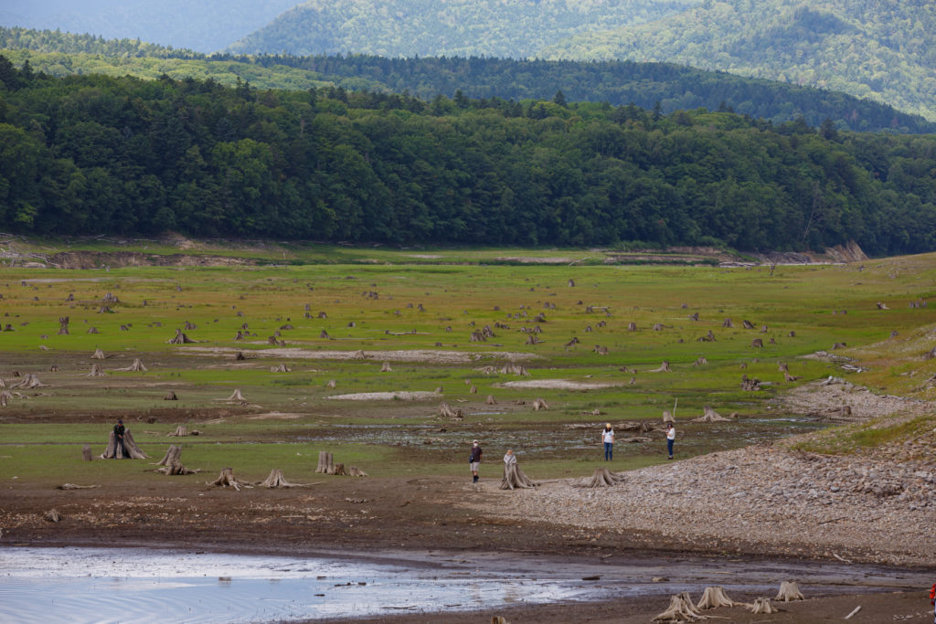 夏の糠平湖