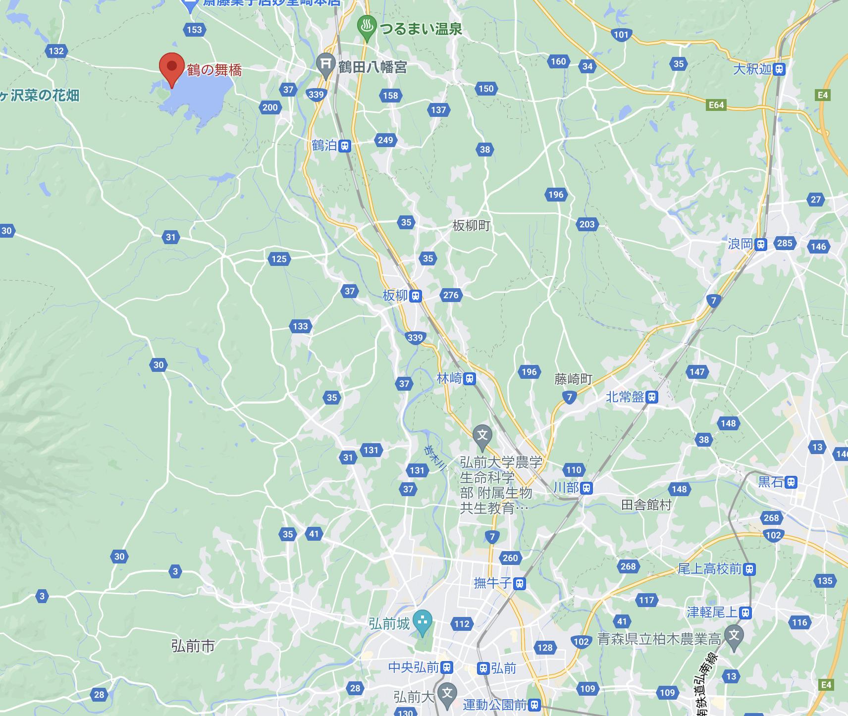 鶴の舞橋MAP